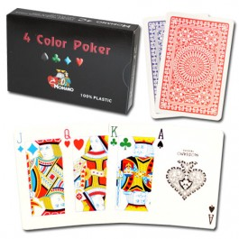 Modiano Club Poker Red/Blue 4-Color 2 Deck Set