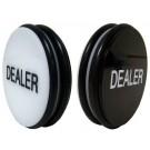 """2 Sided Black/White 3"""" Dealer Button"""