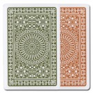 Modiano Club Poker Green/Brown Regular 2 Deck Set