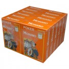 Modiano Cristallo Poker Size, 4 PIP Jumbo Orange - 12 Decks - BULK