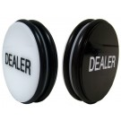 "2 Sided Black/White 3"" Dealer Button"