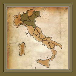 Northern Italian Regional Style Map